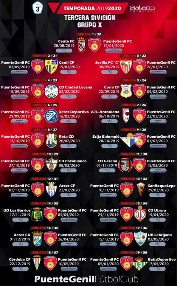 Calendario Sevilla Fc 2020.Calendario Para La Temporada 2019 2020 Salerm Cosmetics Puente